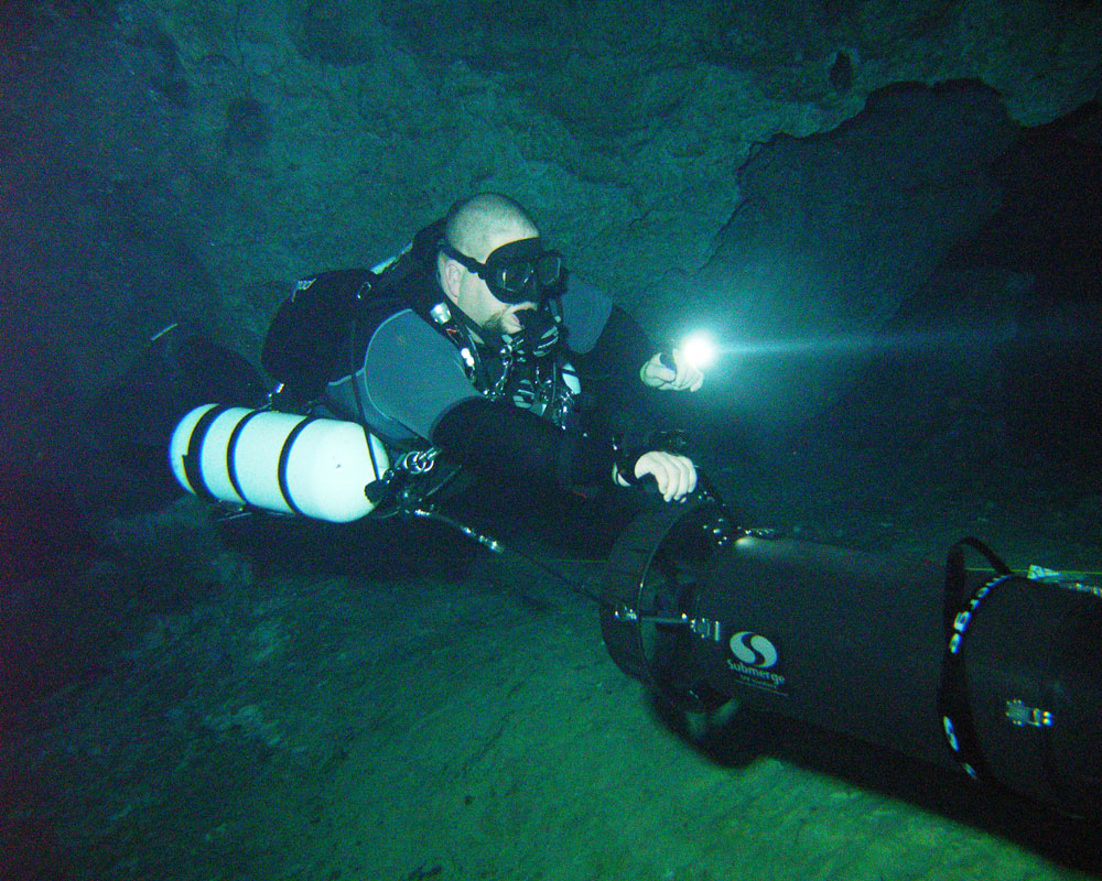 Bobby on Scooter and Sidemount